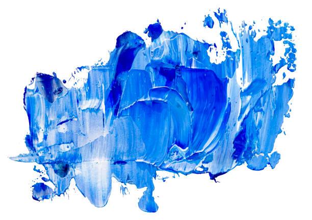 Blue vector oil brush stroke. Abstract varnish splash trace shape. Glossy oil paint smear on white background. Eps 10 illustration. Blue vector oil brush stroke. Abstract varnish splash trace shape. Glossy oil paint smear on white background. Eps 10 illustration. acrylic painting stock illustrations