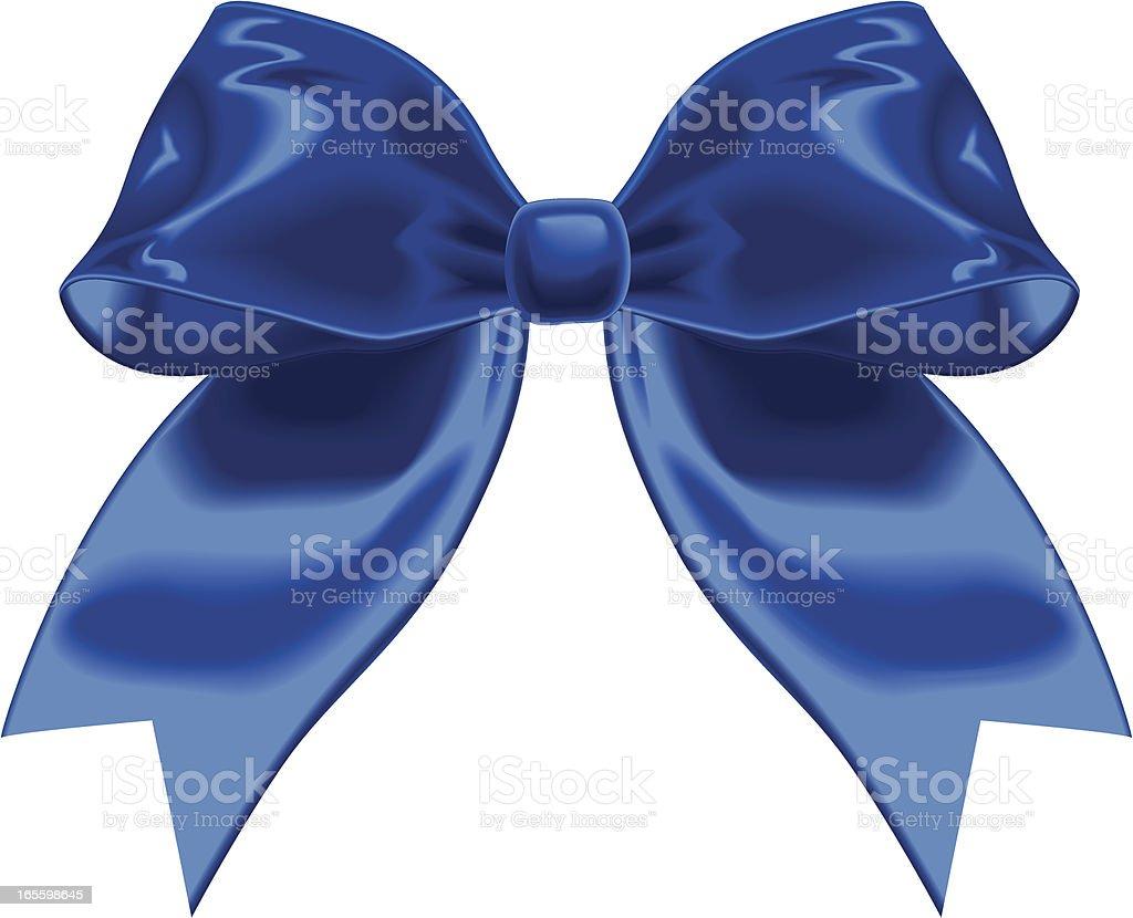 Blue Vector Ribbon vector art illustration