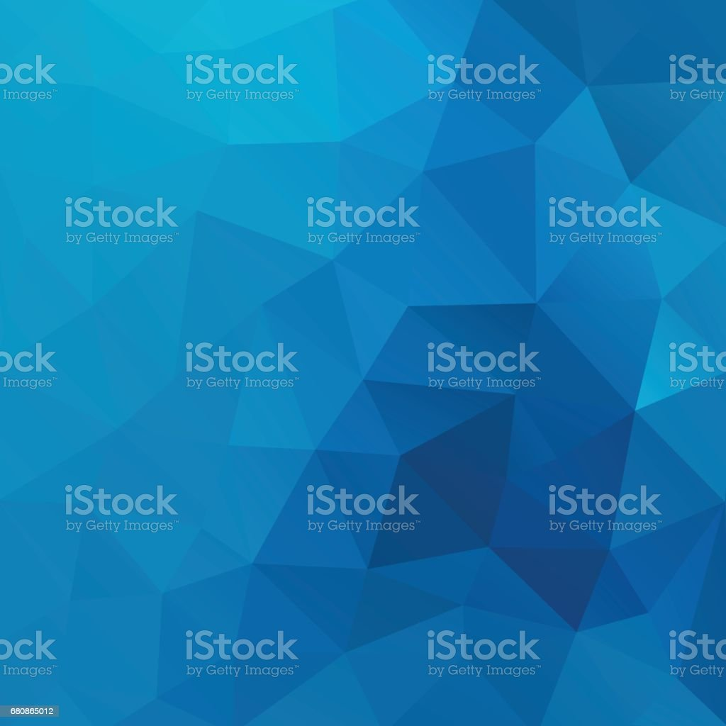 Blue vector shiny triangle background design vector art illustration
