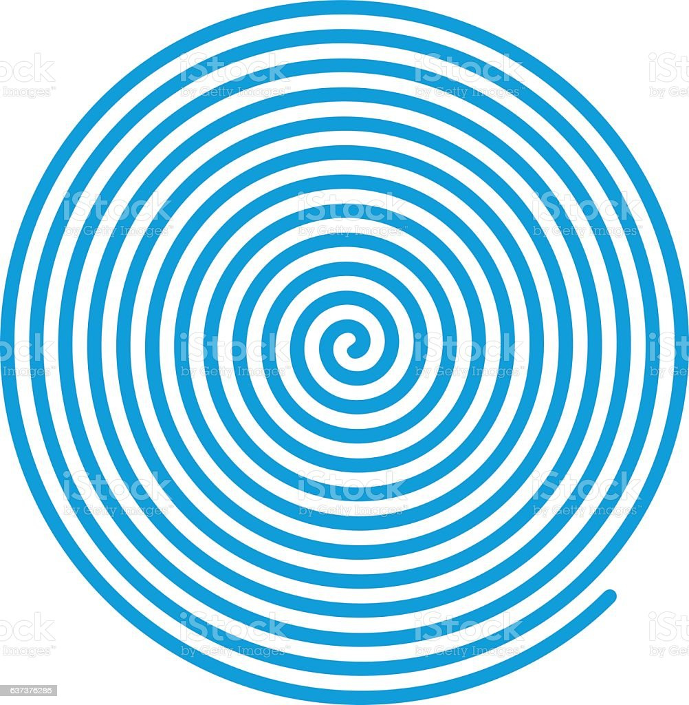 Blue vector spiral. vector art illustration