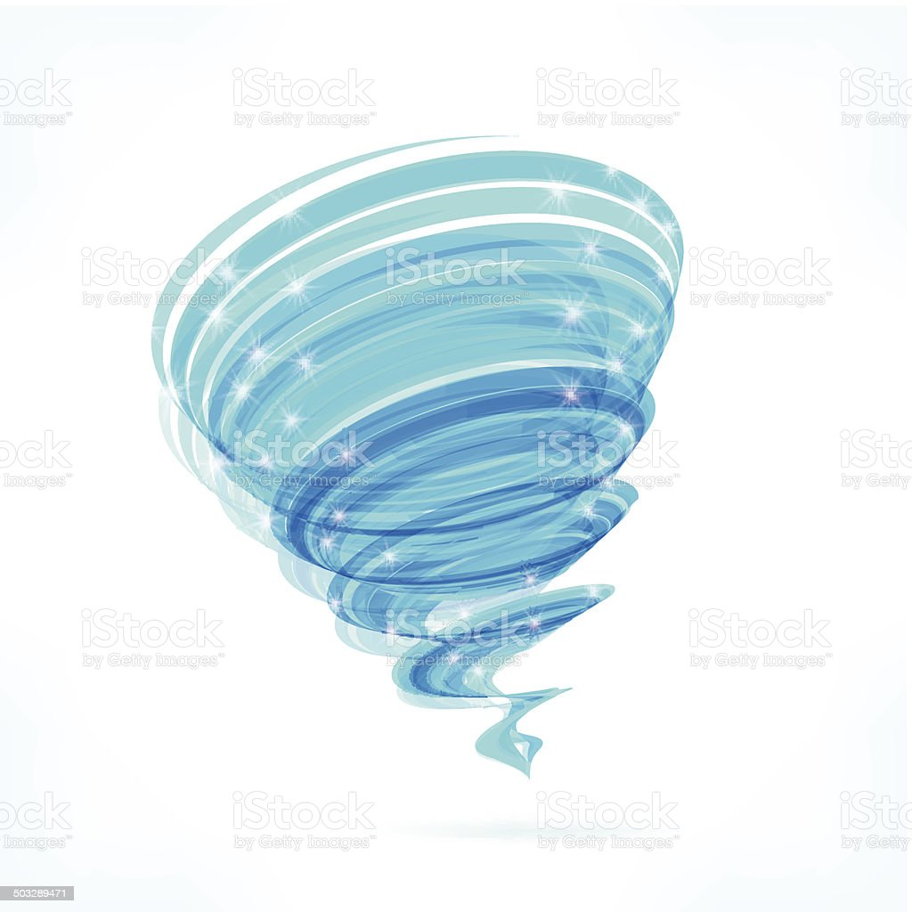 Blue vector tornado vector art illustration