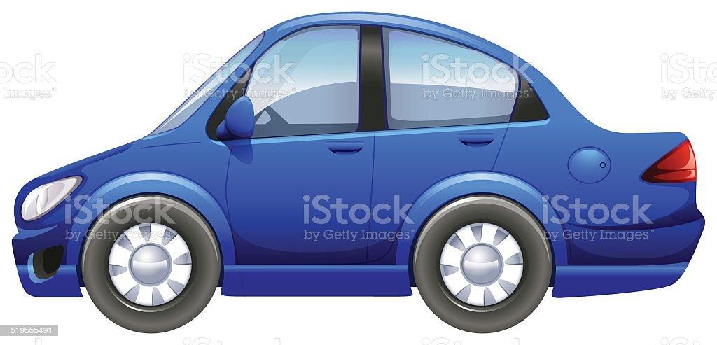 Blue vehicle vector art illustration