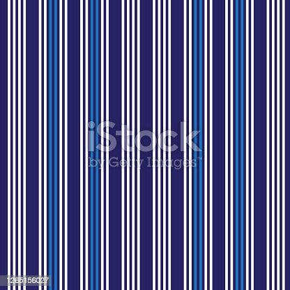 istock Blue Vertical Stripes seamless pattern background 1265156027