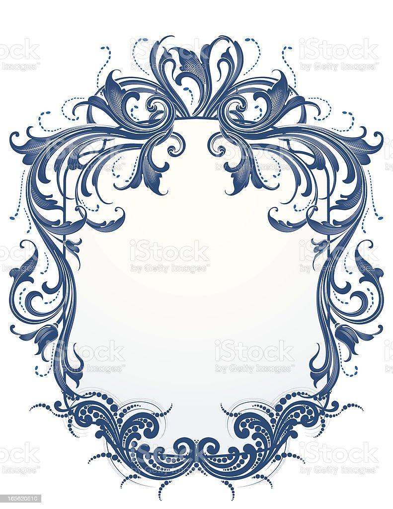 Blue Victorian royalty-free stock vector art