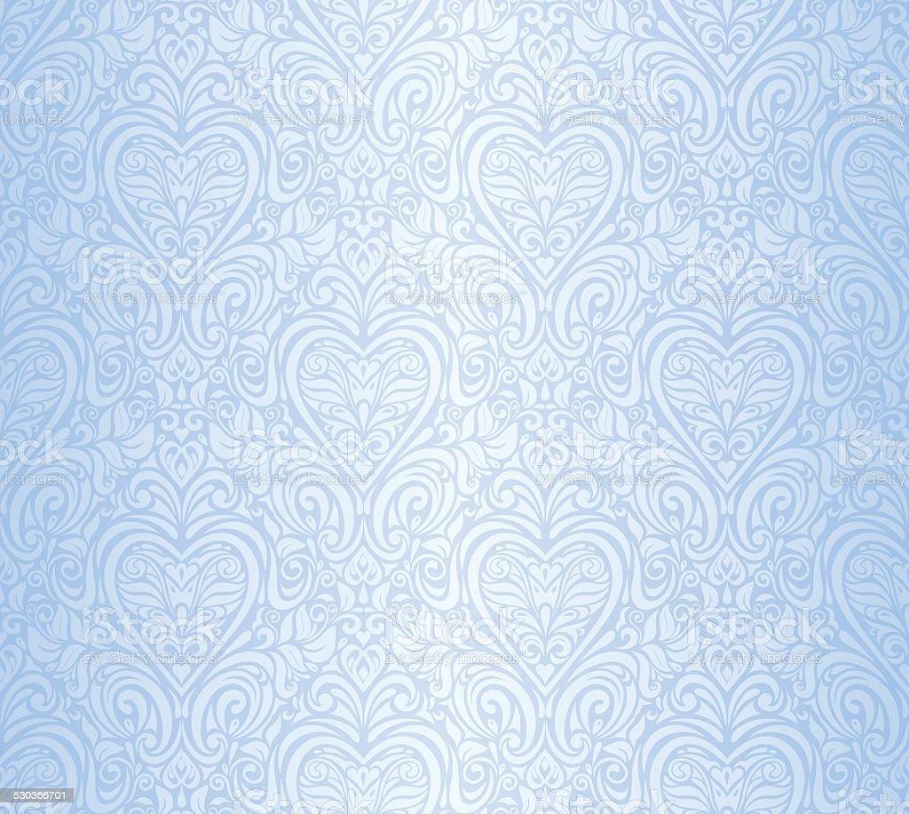 blue vintage invitation floral wallpaper background stock