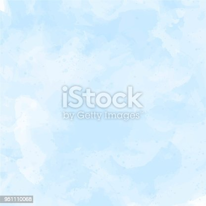 istock Blue, violet watercolor background vector 951110068