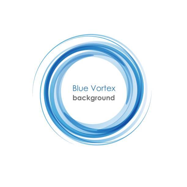 Blue Vortex background vector art illustration