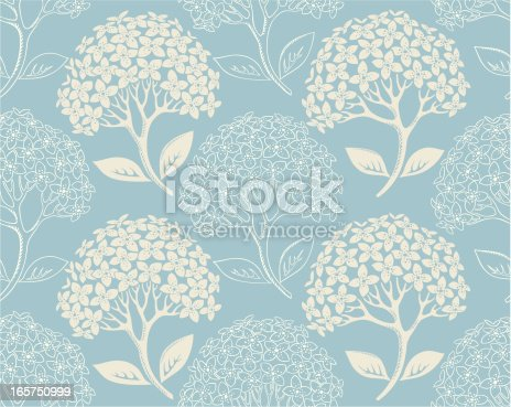 Hydrangea seamless pattern