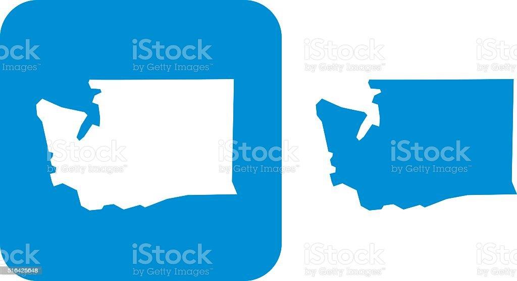 Blue Washington Icons vector art illustration