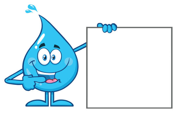 Best Cartoon Of The Water Drop Character Illustrations ...