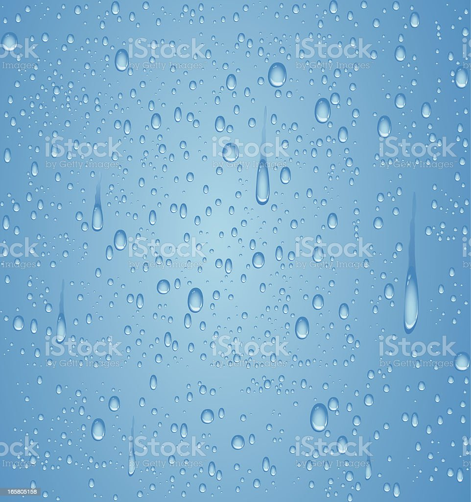 Blue water droplet vector art illustration