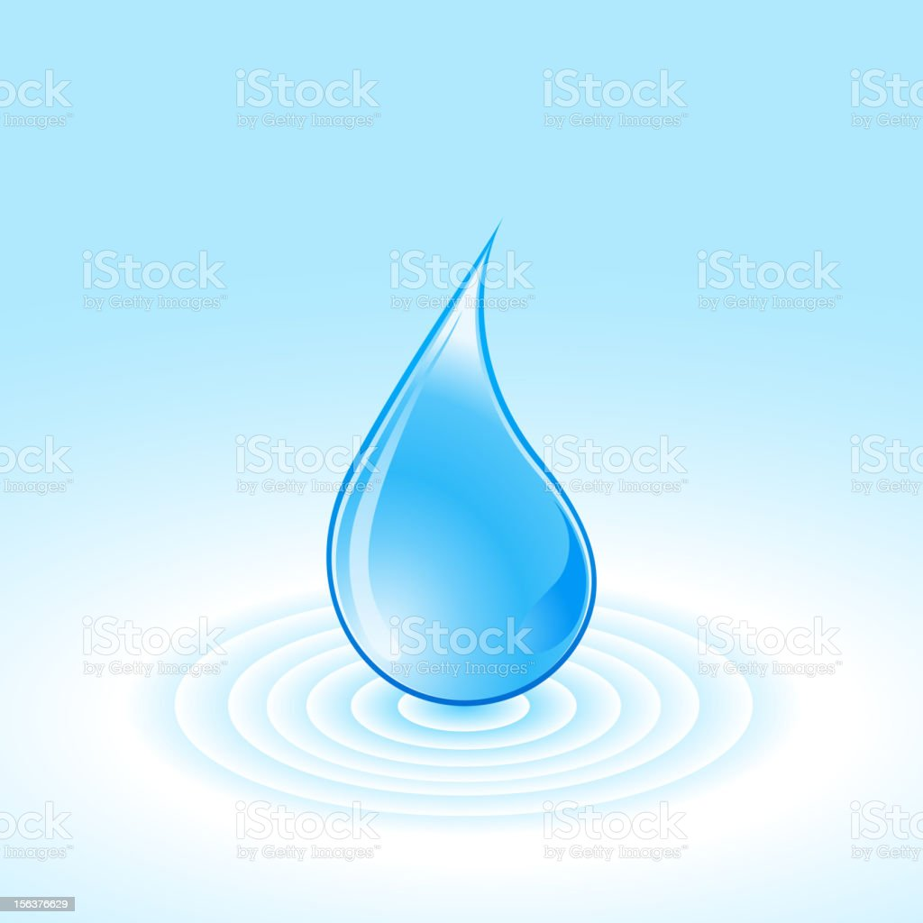 Blue water drops royalty-free stock vector art
