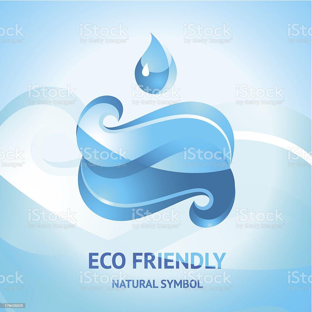 Blue water symbol vector art illustration