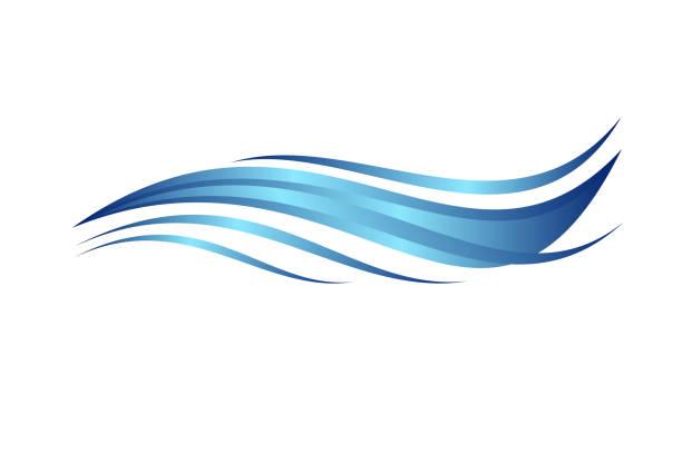 illustrazioni stock, clip art, cartoni animati e icone di tendenza di blue water wave, abstract vector illustration. - nuoto mare