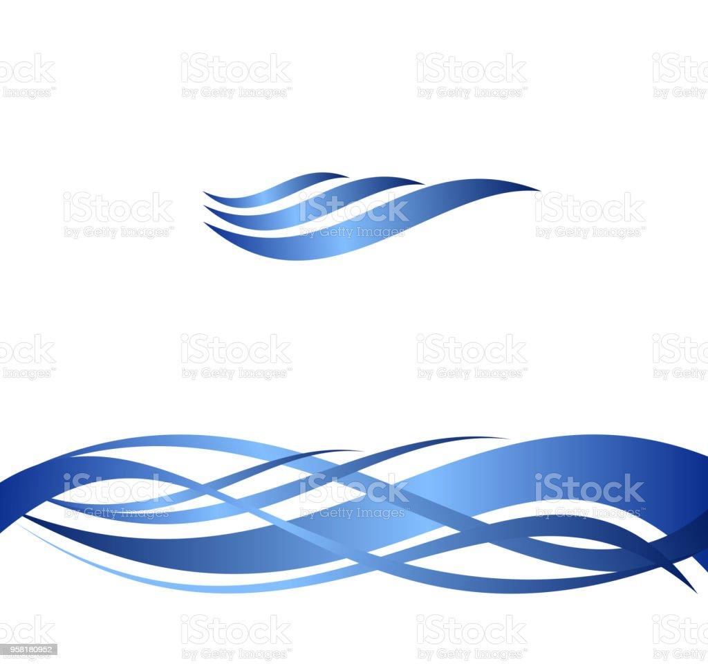 Ilustración de Ondas De Agua Azul Conjunto De Ilustraciones ...