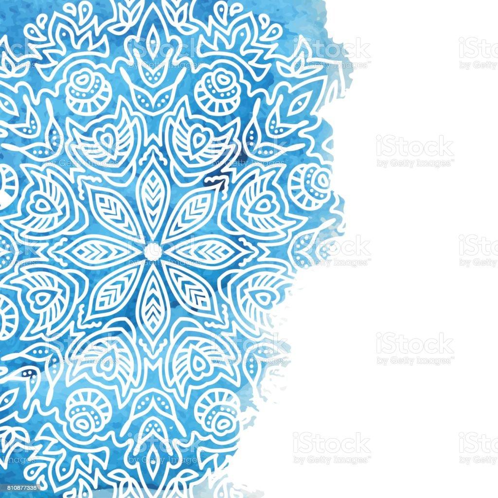 Blue watercolor paint background vector art illustration