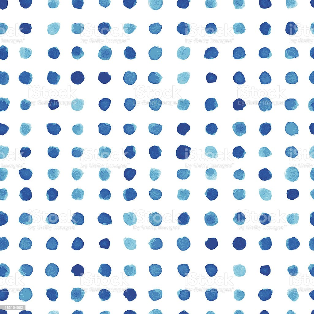 Blue watercolor pattern design royalty-free stock vector art