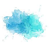Blue Watercolor splatters. Vector illustration. EPS 10