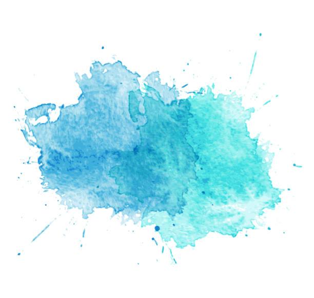 stockillustraties, clipart, cartoons en iconen met blue watercolor splatters. vector - houtbeits