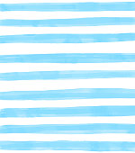istock Blue Watercolor Stripes Pattern Background. Coastal Summer Concept. Design Element for Greeting Cards and Labels, Marketing, Business Card Abstract Background. 1223272123