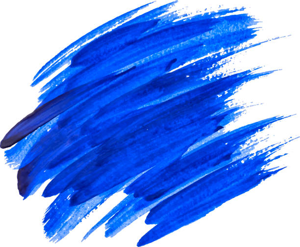 blue watercolor texture paint stain shining brush stroke - acrylic painting stock illustrations