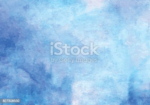 Blue watercolor vector background. Abstract hand paint square stain backdrop.