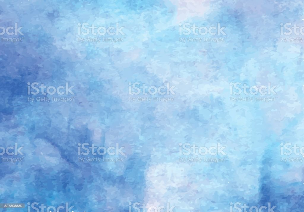 Blue watercolor vector background. Abstract hand paint square stain backdrop vector art illustration