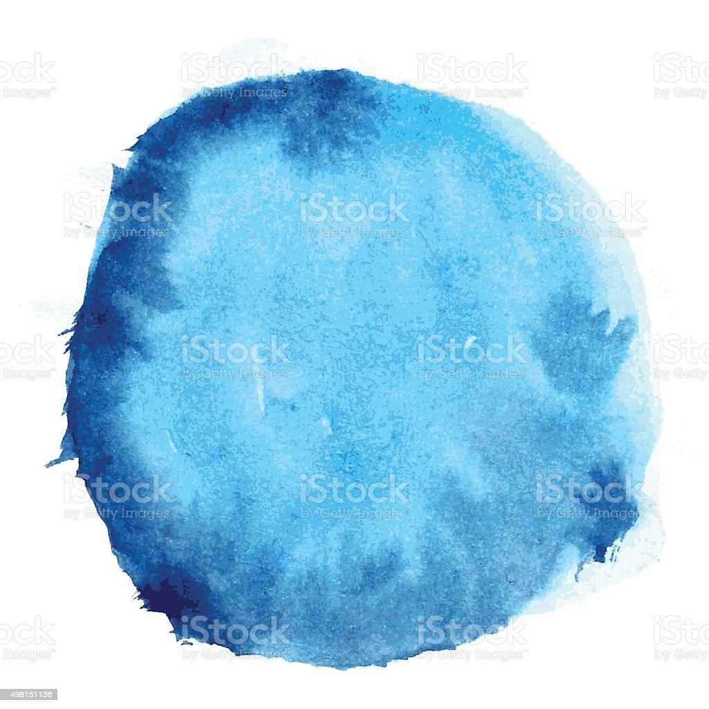 Blue Watercolor Vector Background vector art illustration