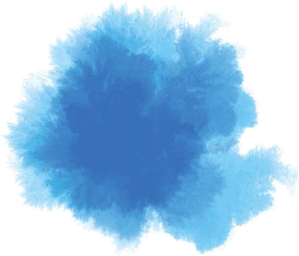 blue watercolor vector art illustration