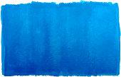 watercolor blue paintbrush stroke patch