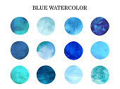 It is an illustration of a Blue watercolor.