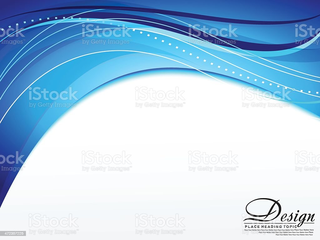 Blue wave background Card royalty-free stock vector art