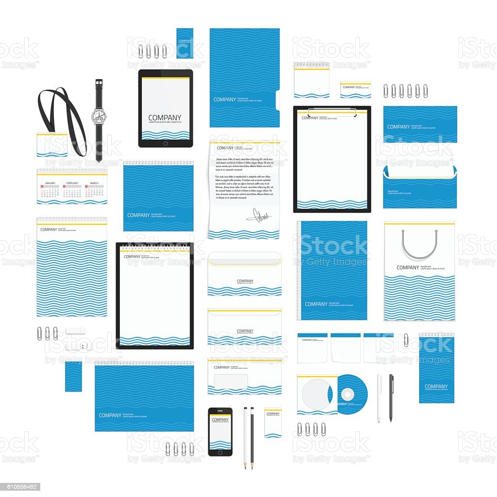 Blue wave corporate style template.