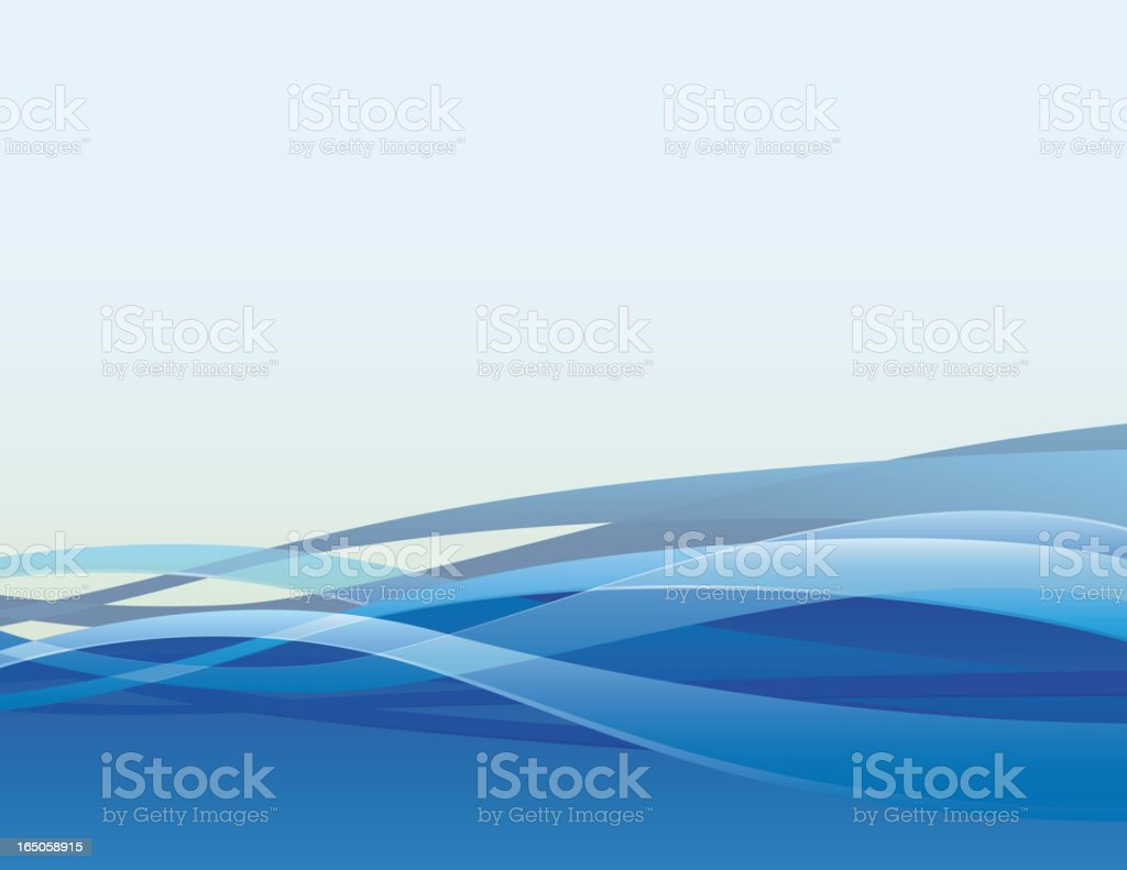Blue waves background royalty-free blue waves background stock vector art & more images of abstract