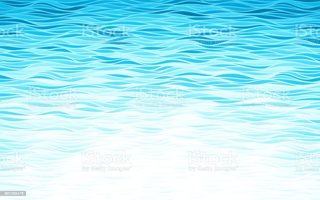 Blaue Wellen Hintergrund – Vektorgrafik