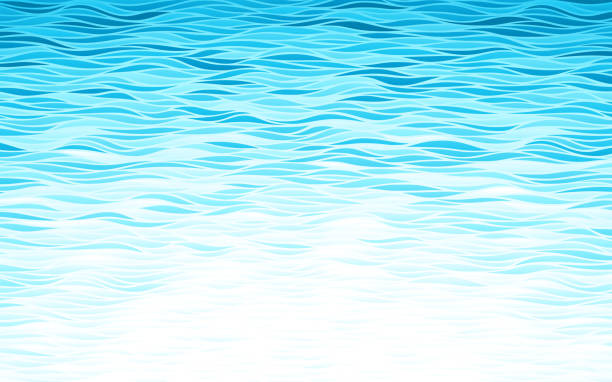 blue waves background - море stock illustrations