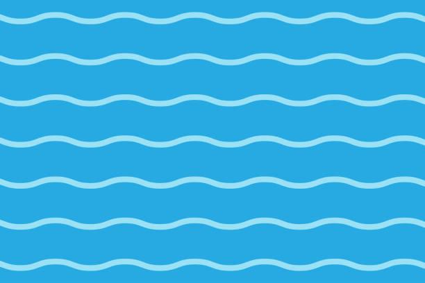 stockillustraties, clipart, cartoons en iconen met blauwe golven lijnenpatroon achtergrond-vector illustratie - golvend haar
