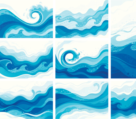 Blue waves clipart