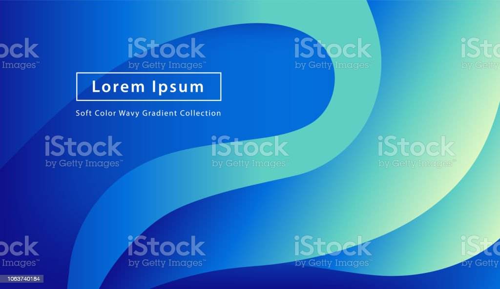 Blue Wavy Gradient Abstract Background For Website Landing