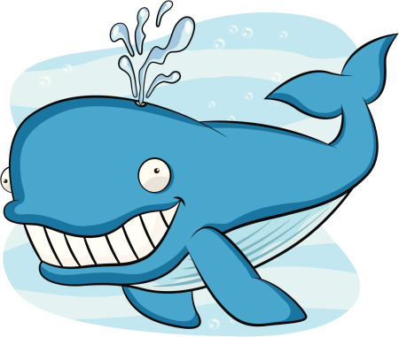 Blue Whale Cartoon
