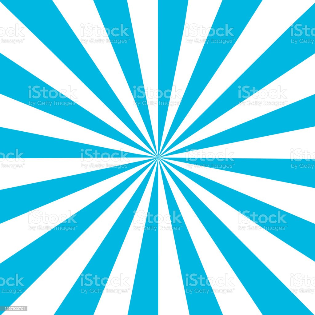 Blue White Sunbeam Background Blue Striped Abstract