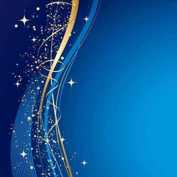 niebieski zimowe tło abstrakcyjne - new year stock illustrations