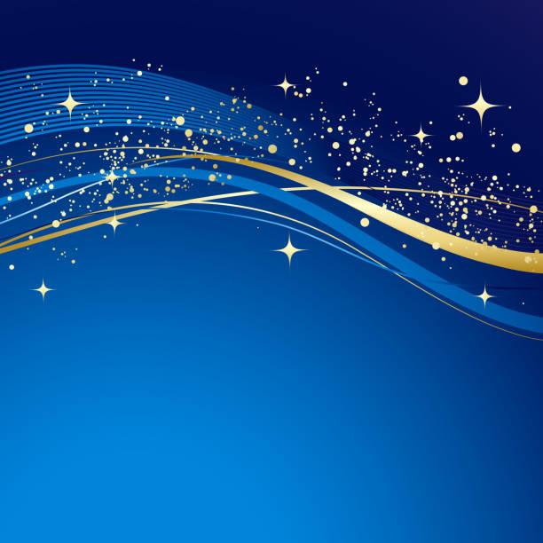 Fondo abstracto azul de invierno - ilustración de arte vectorial