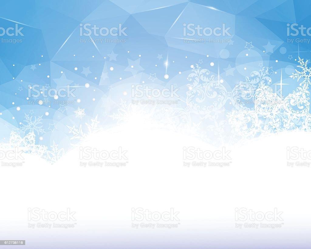 Blue Winter Background vector art illustration