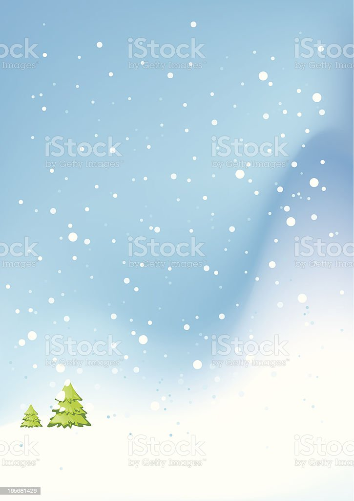 Blue Winter Snowing Background royalty-free stock vector art