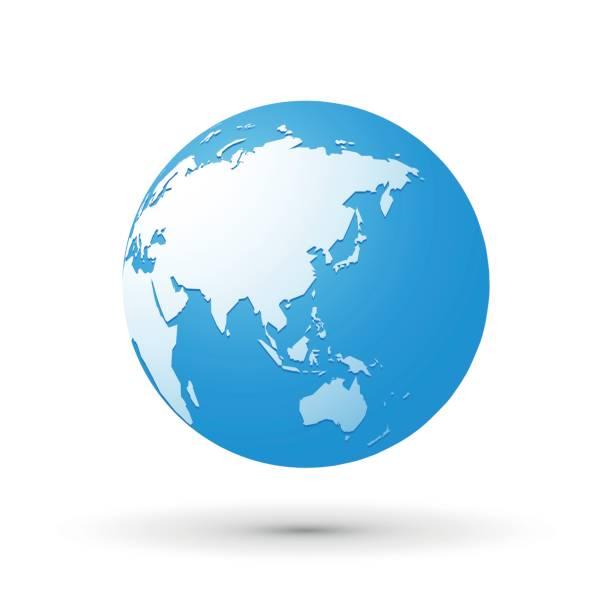 青の世界地球世界アジア インターネット概念を日本 - アジア点のイラスト素材/クリップアート素材/マンガ素材/アイコン素材