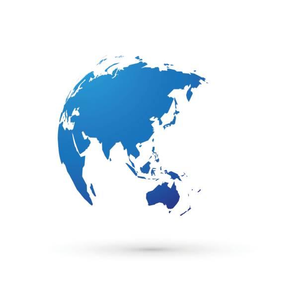 青の世界地球世界アジア日本 - 地球点のイラスト素材/クリップアート素材/マンガ素材/アイコン素材