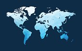blue world map illustration