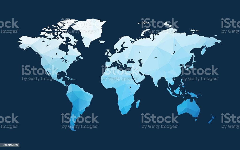 blue world map illustration vector art illustration