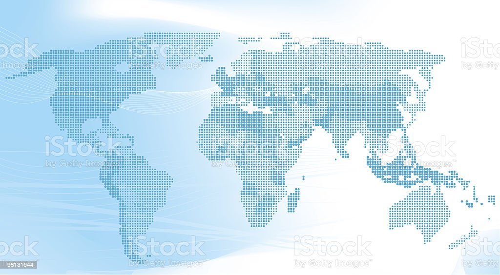 Blue world map made up of dots. royalty-free blue world map made up of dots stock vector art & more images of abstract
